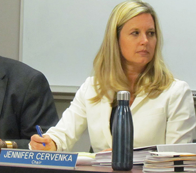 Governor appointee Jennifer Cervenka, who supported National Grid's waterfront LNG project while working for the Northern Rhode Island Chamber of Commerce, is the council's chairwoman. (ecoRI News)