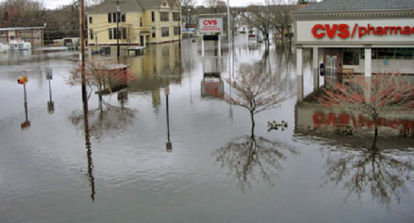 The March 2010 floods were an early warning of climate impacts to come. (NOAA)