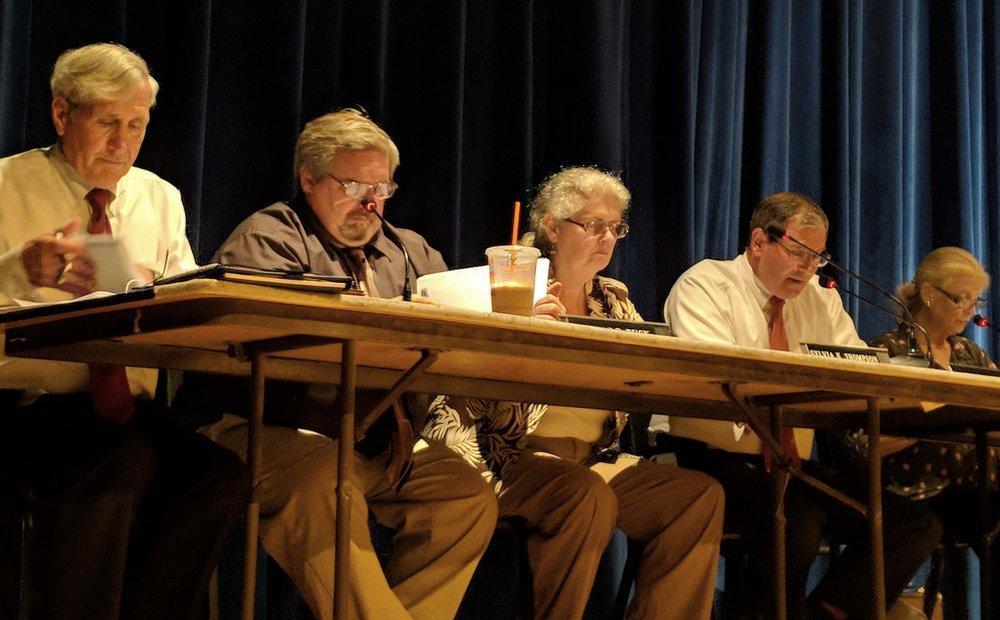 The Hopkinton Town Council. (Tim Faulkner/ecoRI News)