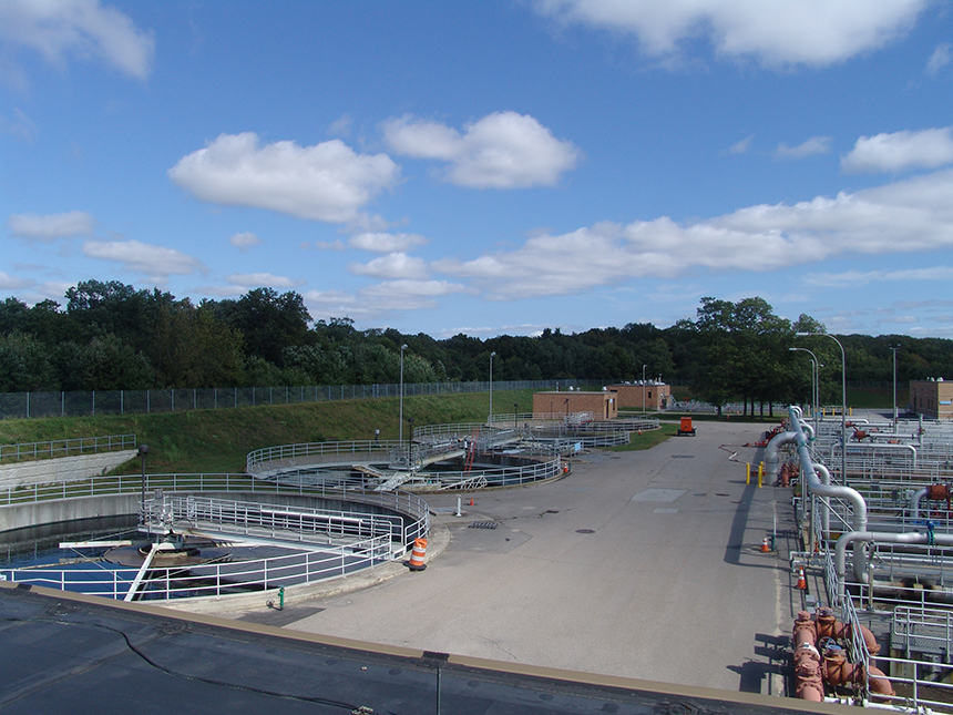 Warwick's wastewater treatment plant is valued at $250 million. (Frank Carini/ecoRI News)