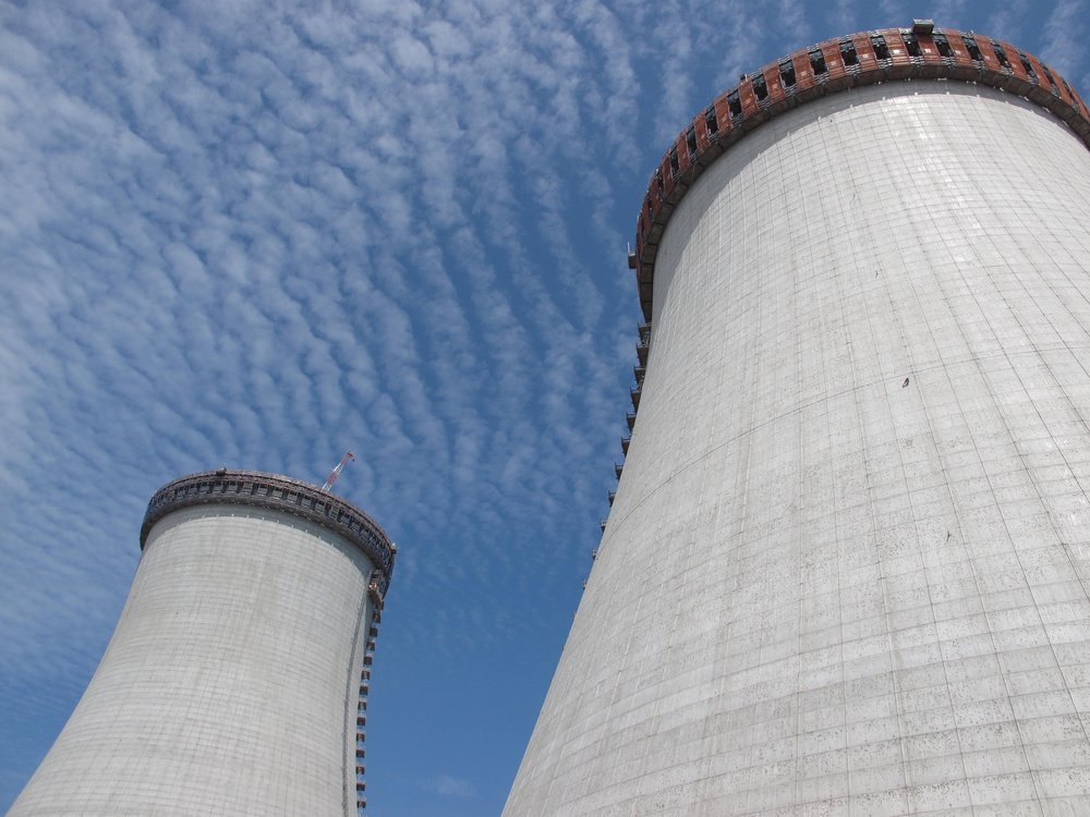The two, 500-foot cooling towers will be demolished. (John Torgan)