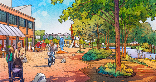 The proposed Greenway Promenade. (City of Providence)