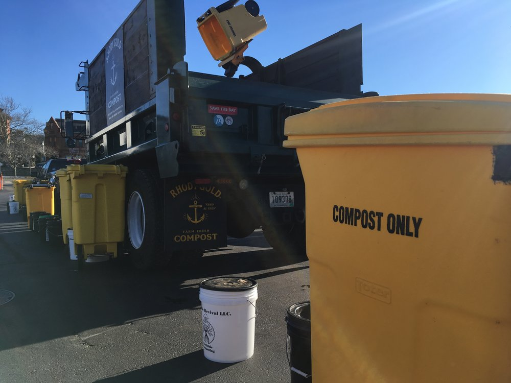 The Compost Plant, Rhodeside Revival, and Aquidneck Community Table will work with Clean Ocean Access to jump-start composting on Aquidneck Island. (Joanna Detz/ecoRI news)