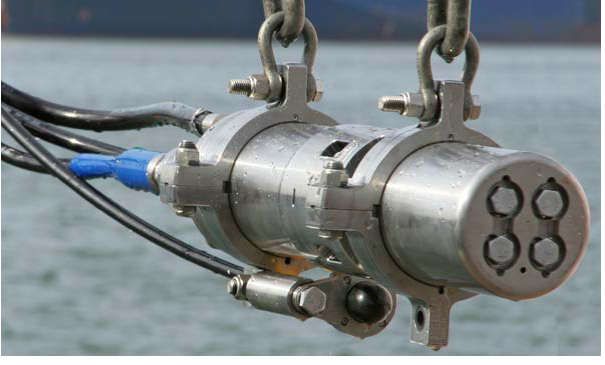 Some 5 million blasts will fire from seismic airguns like this one if the latest survey proposals are approved. (Emma Technologies)