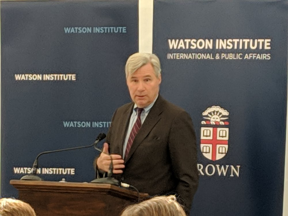 Sen. Sheldon Whitehouse said his office was at the center of efforts to remove Scott Pruitt as head of the Environmental Protection Agency. (Tim Faulkner/ecoRI News)