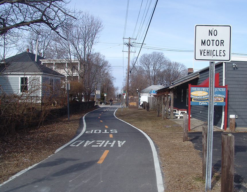 Less than 3 percent of Rhode Island's transportation budget supports bicycle and pedestrian infrastructure. (Frank Carini/ecoRI News)