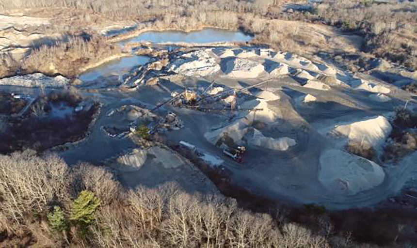 A former gravel pit in North Kingstown could soon be Rhode Island's highest capacity contiguous solar generation facility. It will provide enough power to offset 70 percent of Brown University's campus electricity use. (Brown University)