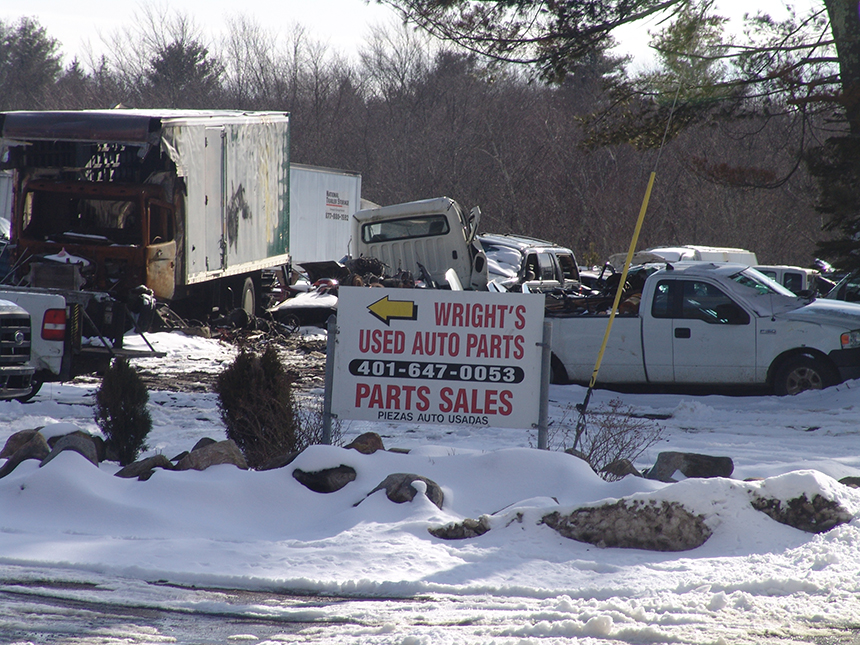 The Mill Road business isn't licensed to operate a solid-waste management facility. (Frank Carini/ecoRI News)