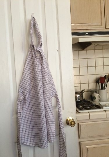 The apron Hanging out in the kitchen