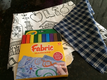 focus fabric, lining, and fabric pens