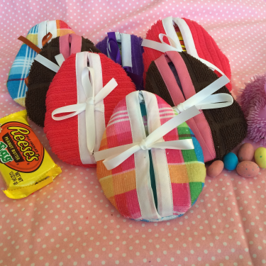 Easter pouches ready to slip into the Easter baskets