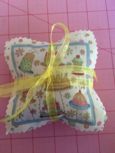 sachets tied up with ribbon