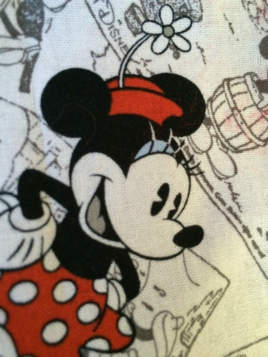The flower on Minnie's hat