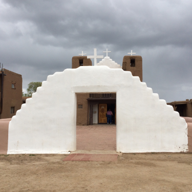 Beautiful San Geronimo Catholic Church on The taos pueblo