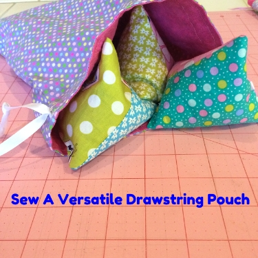 How to Sew the Very Versatile Drawstring Pouch