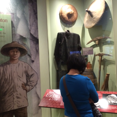 Another exhibit highlighted the Chinese contribution to building the transcontinental railroad.