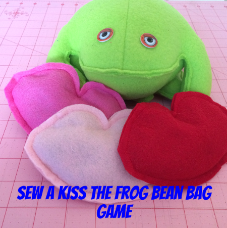 Sew a Kiss the Frog Bean Bag Toss and Learning Game