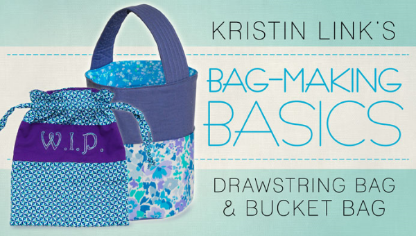 Here are two excellent bag-making classes by Kristin Link.  Kristin Link is the owner of Sew,Mama,Sew!, an online fabric shop, blog and sewing forum, which she started in 2005.