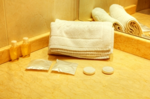 Hotel soaps will work in a pinch