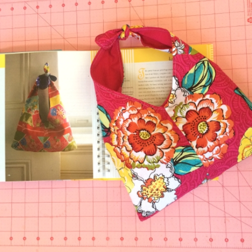 Grab and go with this cute and stylish Tokyo Tie Bag.  sew it up in under an hour.