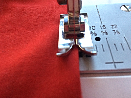 Stitch the gap closed by sewing as close to the edge as possibe.  I match my thread to the lining fabric.  I think it is better even though no one usually sees it.