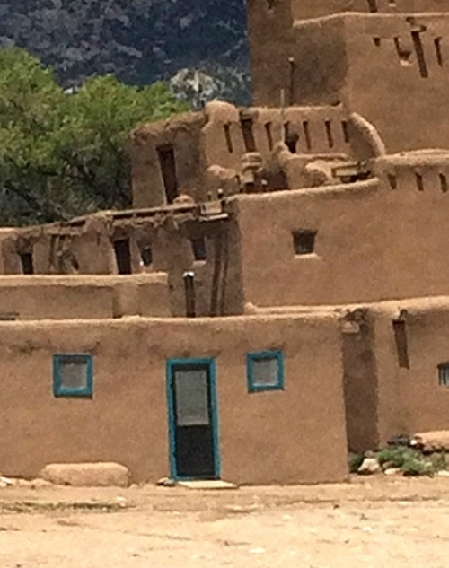 Home in the Taos Pueblo