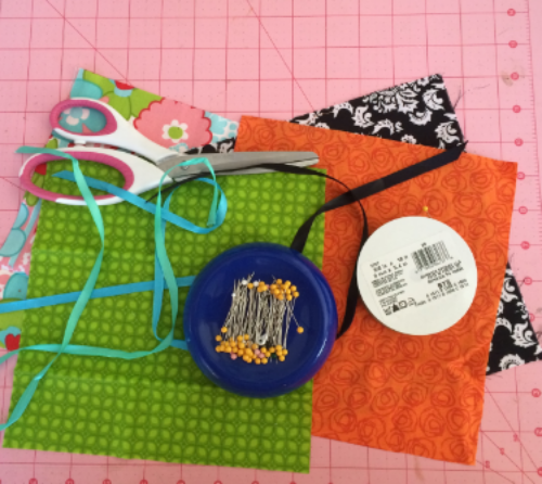 Materials for two gift pouches