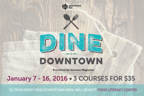 Food Literacy Center is a nonprofit dedicated to teaching low-income elementary children cooking and nutrition to improve our health, community and environment.   Just $4.11 provides a week of food literacy for one child.  During Dine Downtown, a party of four can make a difference in a child life.