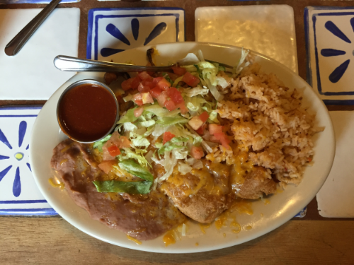 Sela's choice was Chili Rellenos