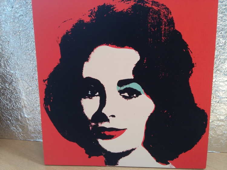 There were many examples of Warhol's famous portraits.  This Elizabeth Taylor portrait was in
