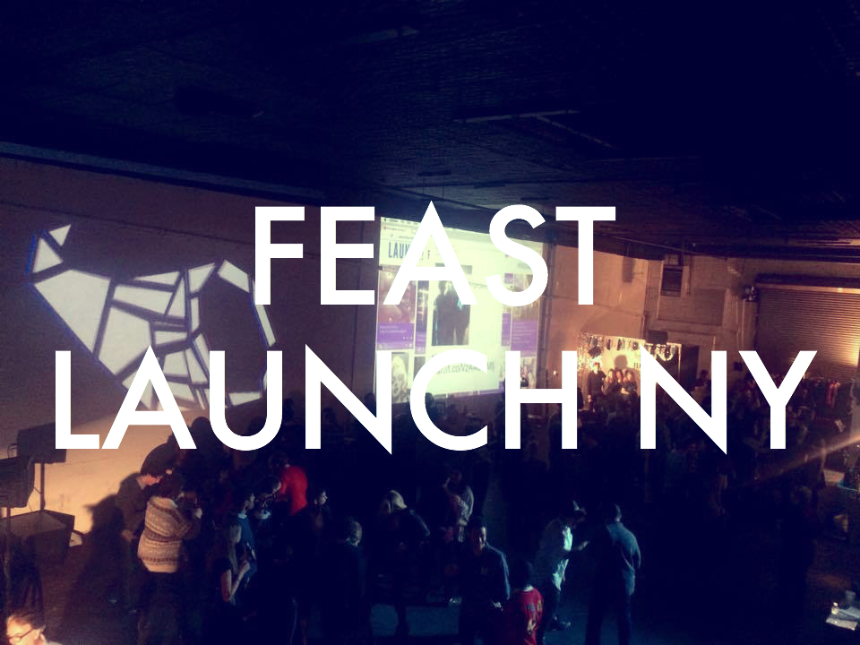 a launch party for a new arts company