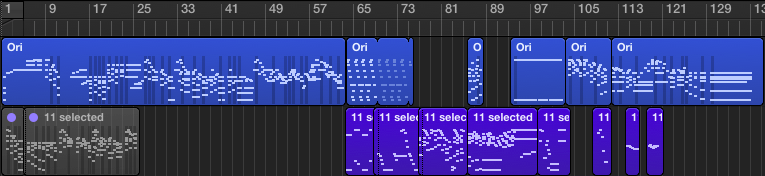 Rough outline of the entire arrangement, noodled on the piano