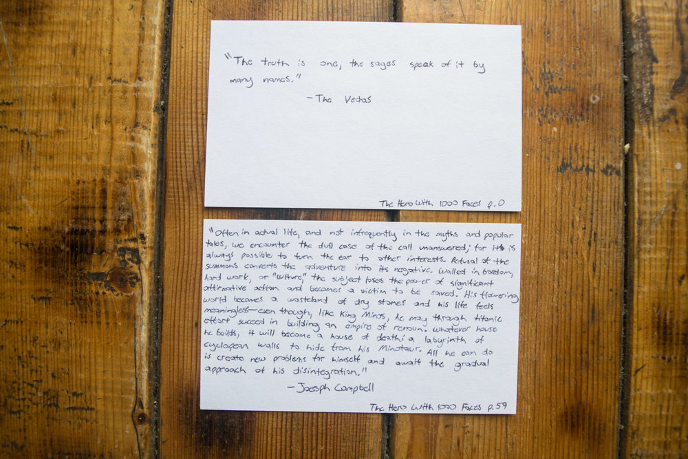 commonplace book index cards