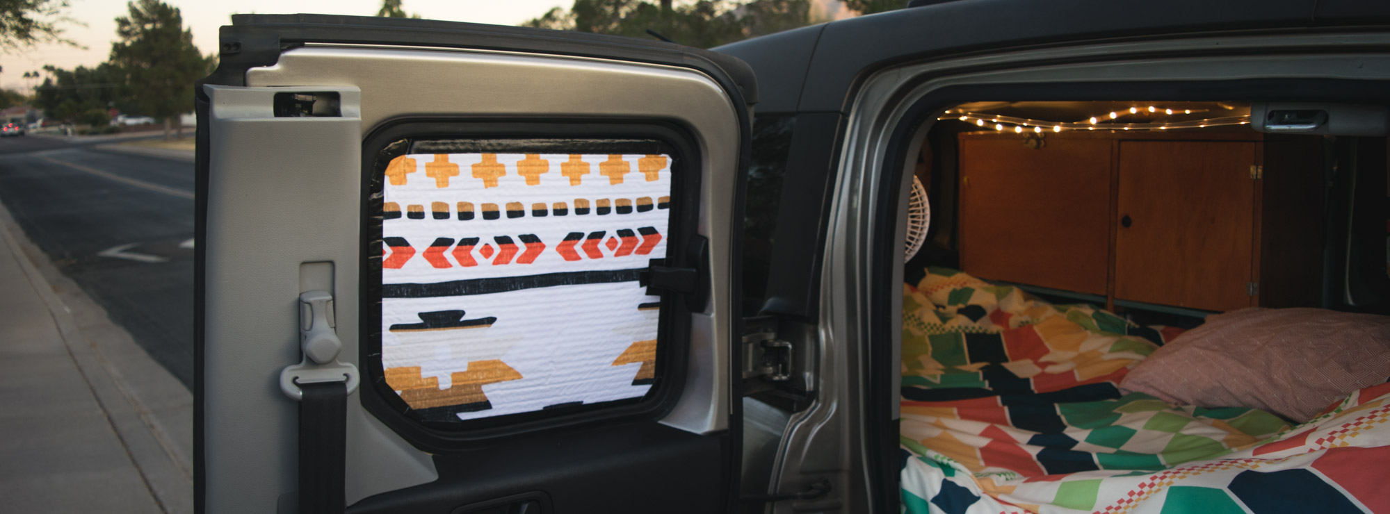 How to Make Beautiful Blackout Window Shades for a Camper