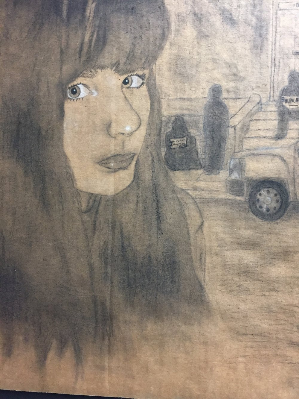 """Can You See Them?"" by 8th Grade Artist (Photo by Melody Weintraub-Do Not Use Without Permission)"