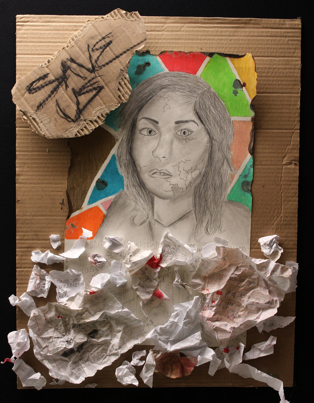"""Broken,"" by 8th Grade student. Photo by Melody Weintraub."