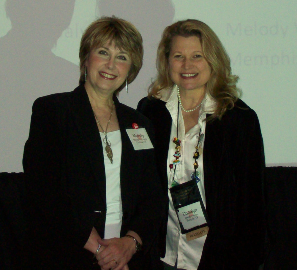 Donalyn and me Co-Presenting at NAEA Convention in 2009.
