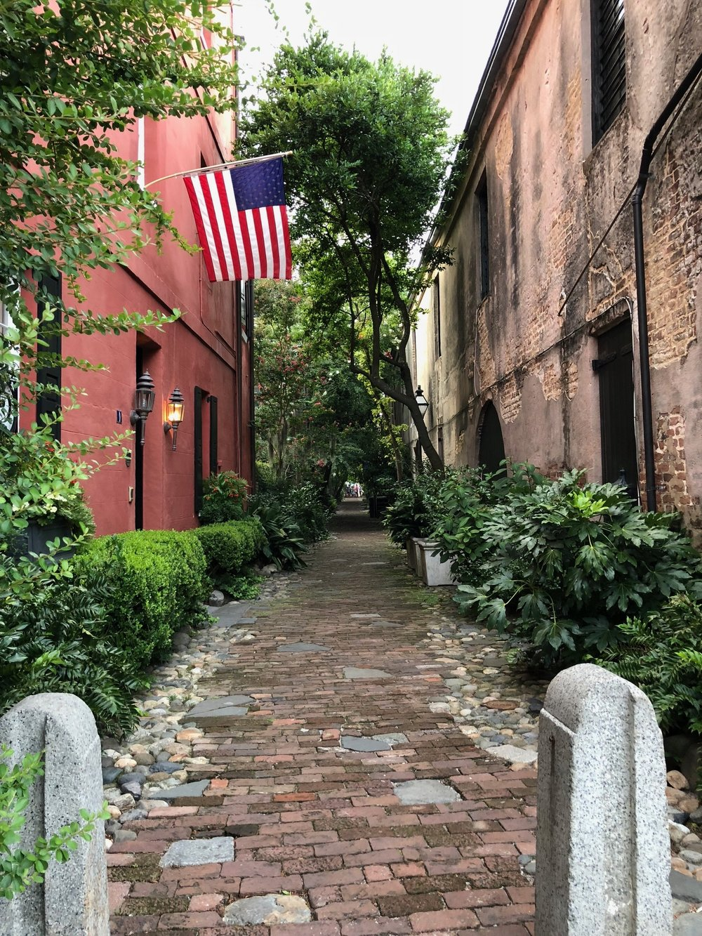 Alley on a Walk in Charleston by Melody Weintraub