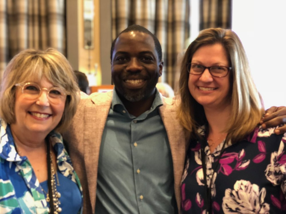 TAEA President Kathy Dumlao (right) and me (left) with Derek Fordjour (center).