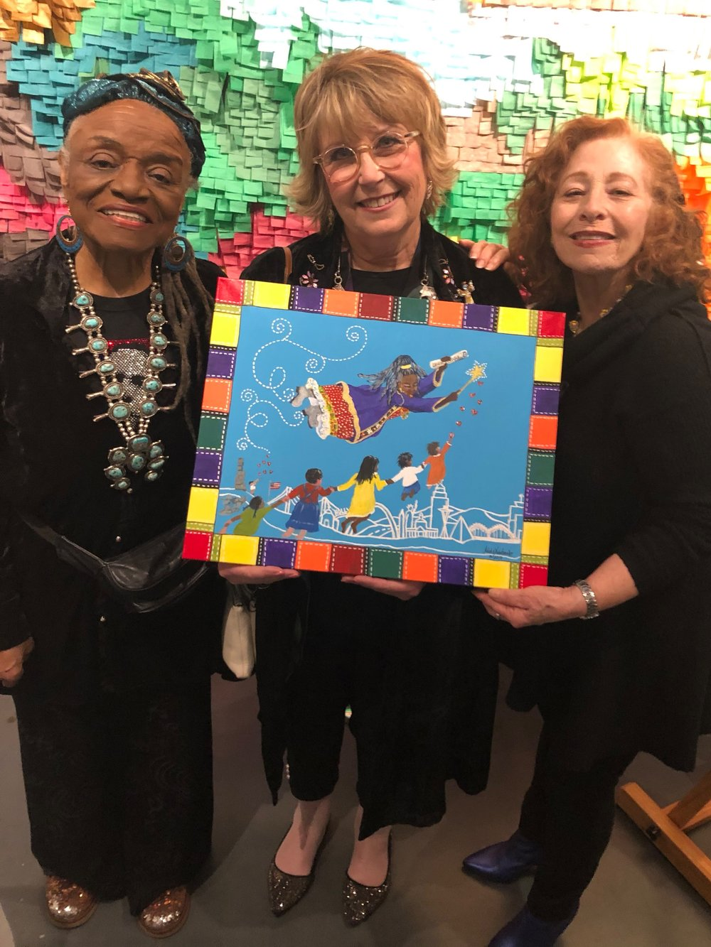 Faith Ringgold, Melody Weintraub and Nancy. Please do not use without permission.