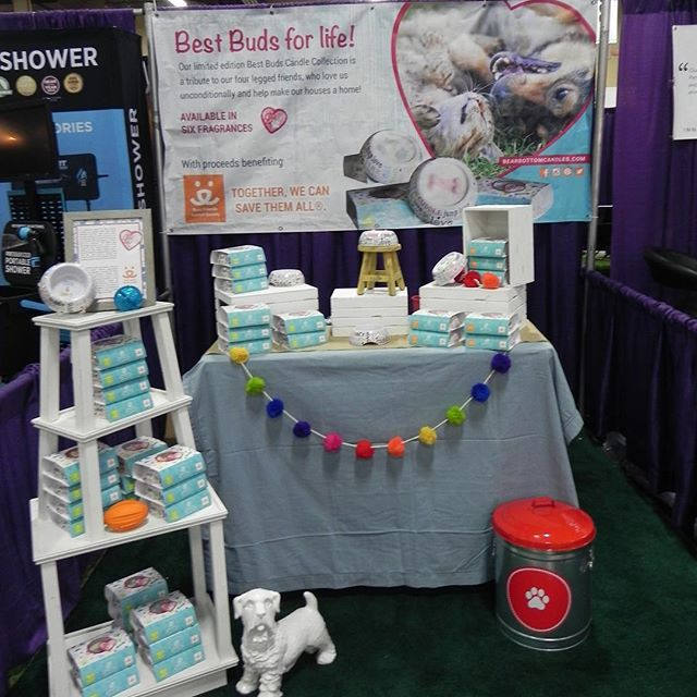 First day @superzooshow!!! Promoting our Best Buds candle collection that benefits @bestfriendsanimalsociety. Come visit us booth #5166 get a free sample while supplies last! #savethemall #bestbuds #bestbudsforlife #adoptdontshop #superzoo