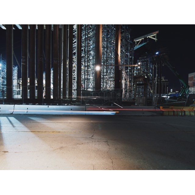 Cue vangelis music #6thstreetbridge #michaelmaltzan #bridge #night #boyleheights #construction #constructionsite #losangeles #california #olympus #omd #工事 #工事現場 #橋 #夜 #ロサンゼルス #カリフォルニア