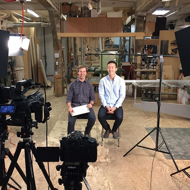 Behind the scenes! Check out our new video at vanairdesign.com! #yvrdesign #ubc #startuplife
