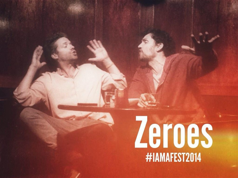 Graham Sibley and I in Micah Schraft's play ZEROES for #IAMAFest2014