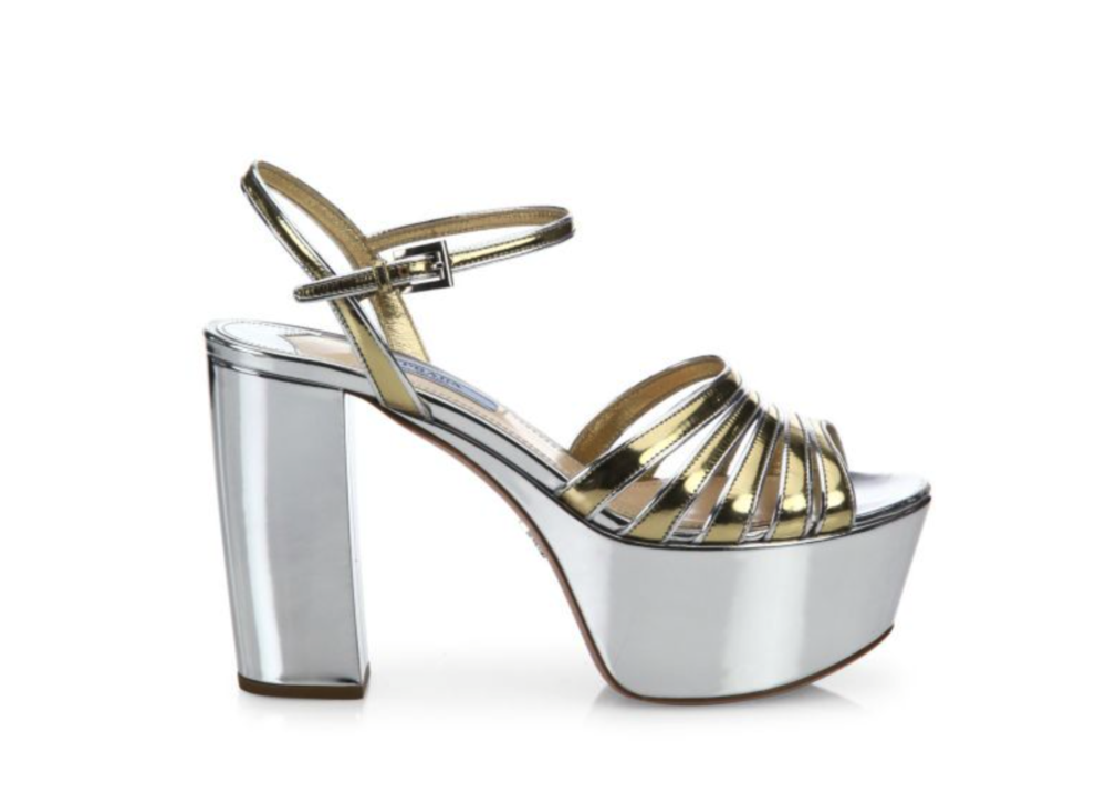 Prada, Two-Tone Metallic Platforms