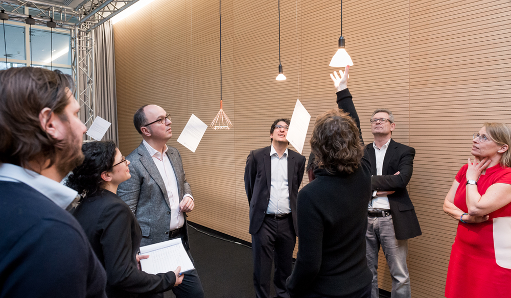 The jury's looking at my project |  Picture ©Lutz Sternstein