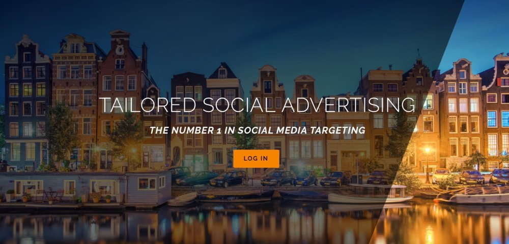 Mysocialdatabase.com - Amsterdam-based Startup - Social Media Advertising Platform - Official Twitter PartnerFeatures: Full-bleed imagery, integrated 3rd party applications ie. login & application preview