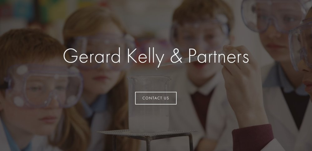 gkandpartners.com - UK-based Education PR and Marketing for schools, universities and businessFeatures: Scrolling one-pager, in-depth sub-pages and applicable imagery consisting clients' visual communication