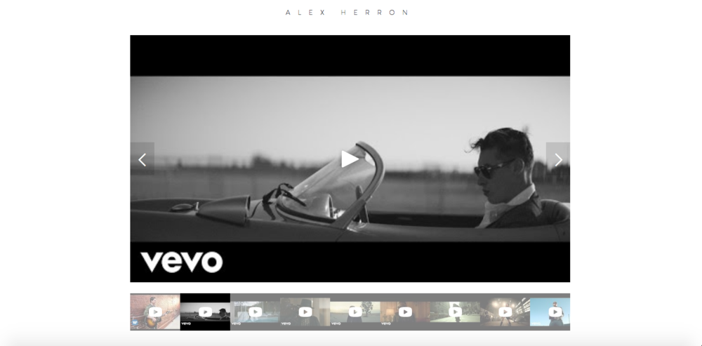 alexherron.com - Hollywood-based Norwegian Director. Artists include: Taio Cruz, John Newman, Rob Thomas, The Dream and others.Features: Ultra simplistic website showcasing clients' portfolio
