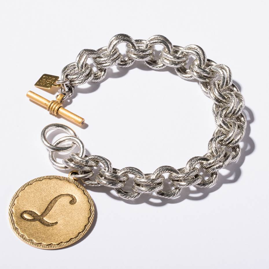Mixed Metal Sorority Gal Bracelet